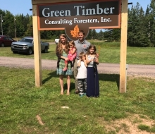 Green Timber Ribbon Cutting