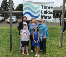 Three Lakes Motel Ribbon Cutting